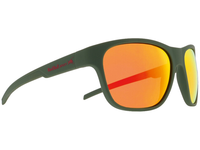 Red Bull SPECT Sonic Sunglasses matte olive green/brown-red